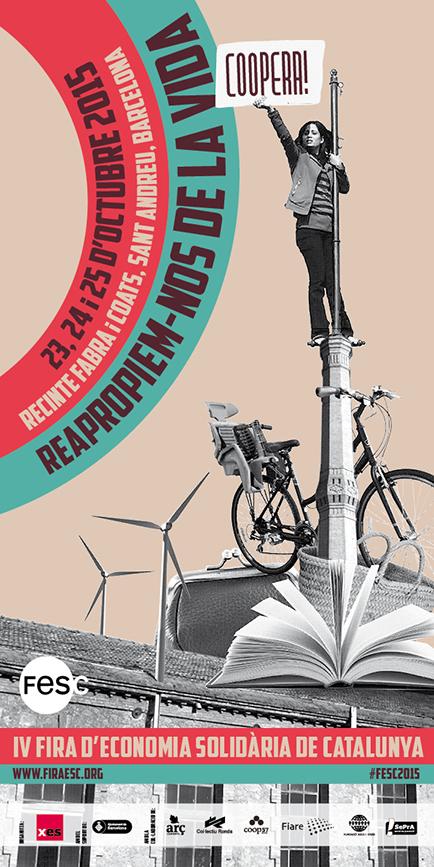 Cartel cuarta edición de la Feria de Economía Solidaria de Cataluña